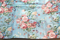 Rare Waverly Schumatcher 2 Panel Lined Curtain Pinched Pleats And 1 Valance Unused