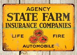 Vintage Reproduction State Farm Insurance Company Metal Tin Sign