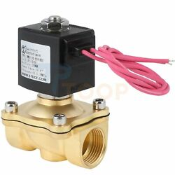 Electric Brass Solenoid Valve 3/4 110v Ac For Gas Water Air Normally Closed