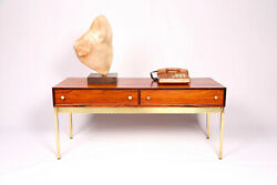 Midcentury Rosewood And Brass Side Table By Poul Nandoslashrrekit Sweden 1960s
