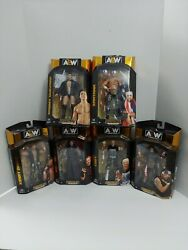🔥 All-elite Aew Wrestling Figures Complete Set Of 6 New In Box In Hand 🔥