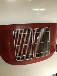 Porsche 356 Engine Motor Deck Lid Cover Coupe And Grills 356b 356c 356sc B C Sc T6