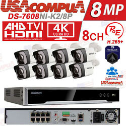Hikvision Nvr Kit 8ch Security System Poe Bullet / Hdd Include / 4mp Dome Ipv67