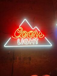 Coors Light Neon Light Signs Beer Bar Pub Display Neon Signs