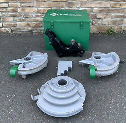 Greenlee 555 Hydraulic Pipe Bender 1/2andrdquo-2andrdquo Emt Shoes And Rollers Nice Shape 3