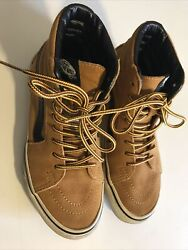 VANS Off The Wall High Tops Suede US Men's 4.5 US Womens 6 Lace Up Shoes