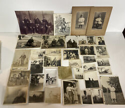 Huge Lot Of 100 + Vintage Early 1900s To 40s Photos Hunting Travel Cars Estate