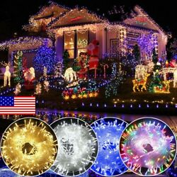 100 1000 LED Wall Tree Fairy String Party Lights Lamp Waterproof US Power