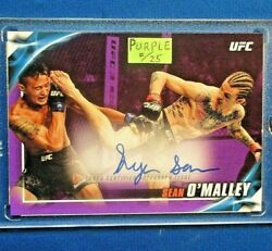 Sean Oand039malley Xrare Purple Parallel Auto 2019 Topps Ufc Hot Only-25