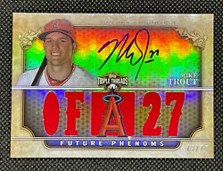2013 Topps Triple Threads Gold Sepia 101 Mike Trout Auto Patch 2011 /75 Update