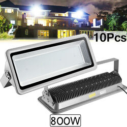 10x 800w Led Flood Light Cool White Camping Outdoor Lighting Security Wall Lamp