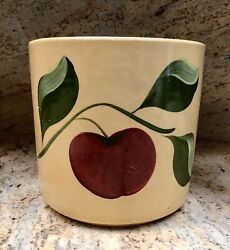 Rare Watt Pottery Apple Cookie Canister Without Dome Lid Jar 72