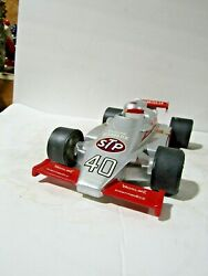 Rare Ezra Brooks 40 Silver Indy 500 Stp Race Car Decanter 18 Of Only 50 Made