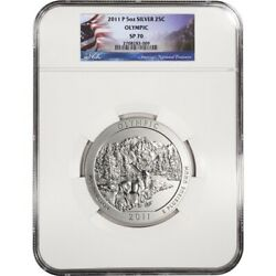2011-p 5 Oz Silver Atb ✪ Olympic Np ✪ 25c Ngc Sp-70 Satin Finish Wa ◢trusted◣