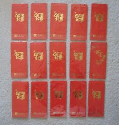Red Envelopes Chinese New Year East West Bank Lot Of 120 Pieces New Sealed