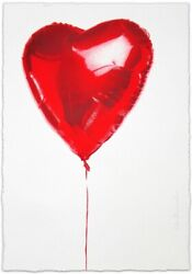 Mr. Brainwash Hold On To My Heart Heart V-day 2018 Print Signed Numbered