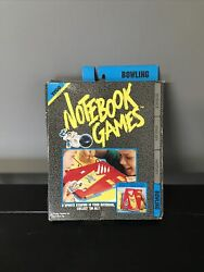 Vintage 1992 Tyco Trapper Keeper Notebook Games Rare Bowling Game