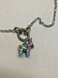 """New James Avery Sterling Bronze Changeable Charm Necklace 24"""" And Enamel Piñata"""