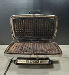 Vintage Ge General Electric Model 24g42 Electric Waffle Iron