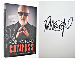Rob Halford Signed / Autographed First Printing First Edition Confess New
