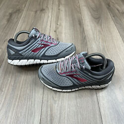 Brooks Ariel 18 Running Shoes Gray And Pink Womenandrsquos Size 8 Extra Wide 2e