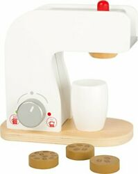 Small Foot Wooden Toys Coffee Machine Cups And Coffee Beans Complete Playset ...