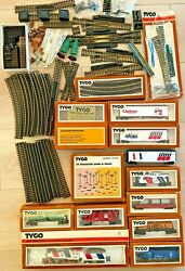 Huge Lot Of Vintage 70's New Ho Scale Tyco Trains Cars Tracks And Accessories Read