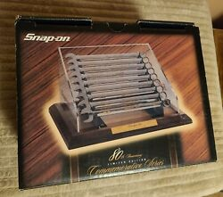 Snap On Collectable 80th Anniversary Gold Plated Wrench Set In Display Case