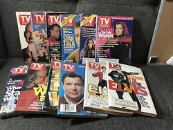 Vintage Star Trek Tv Guides 1980s 1990s - Lot Of 12 With Elvis Covers