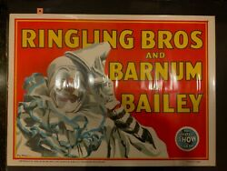 Ringling Bros And Barnum And Bailey 1945 Clown Poster