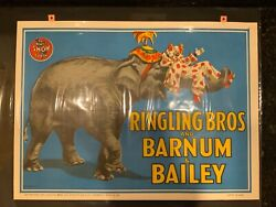 Ringling Bros And Barnum And Bailey, Elephant Clown Poster By Bill Bailey, 1945