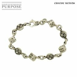 Dice Cross Ball Bracelet 16.5cm Sv Silver 925 With Invoice Secondhand