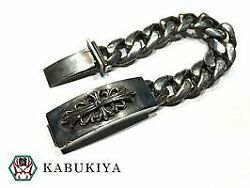 Floral Cross Id Classic Chain Bracelet Silver 925 Mens Women And039s Popular Brands