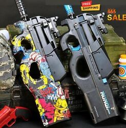 P90 Electric Action Weapon Gel Blaster Toy Gun Water Crystal Ball + Free Bullets