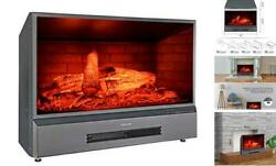 32 Inches Electric Fireplace Insert Free Standing Fireplace Heater, With