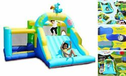 Bounce House With Blower Inflatable Jump Bouncy Castle For Kids With Wide