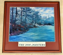 The 2000 Masters Augusta National Golf Club, 13th Hole, Picture, Framed,used