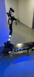 Flj 72v 7000w Electric Scooter With Dual Motors Engines Acrylic Led Pedal Top