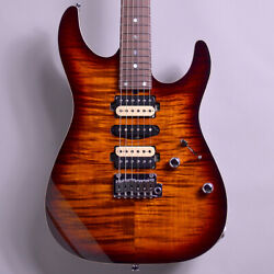 Tand039s Guitars Dst Pro24 Mahogany Limited Tiger Eye Burst Electric Guitar