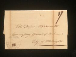 Ny Peekskill Stampless Cover 1812 West Point Alden Partridge Reordnance For War