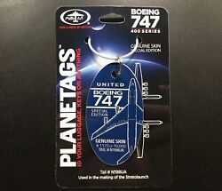 United Airlines Boeing 747-400 Plane Tag Brand New Blue Aircraft Skin