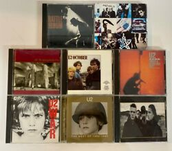 U2 Cd Collection Lot Of 9 Cds Rattle And Hum War October Live Joshua Tree And More