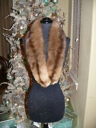 Gorgeous Russian Sable Fur Stole Scarf Collar 4 Coat Jacket
