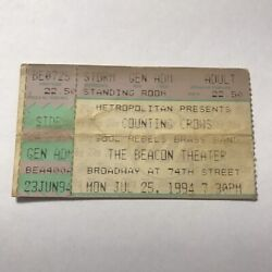 Counting Crows Beacon Theater Hopewell Virginia Concert Ticket Stub Vtg Jul 1994
