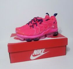 Nike Women Air Vapormax Plus Bright Crimson Athletic Running Pink Shoes New Size