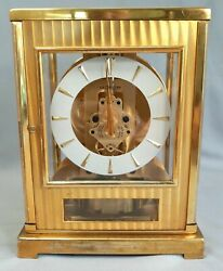 Jaeger Lecoultre Atmos Tuxedo Clock Model 66292 15 Jewels Swiss - Untested As Is