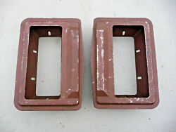 Nos 1956 1957 Thunderbird Fender Side Vent Boxes Pair Left And Right 56 57 Fomoco