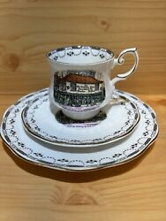 Rosina London Dickens Old Curiosity Shop Cup,saucer,plate Bone China Antique