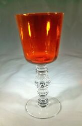A.h. Heisey And Co. Spanish 3404 Tangerine 7-1/2 Tall 10-ounce Water Goblet