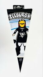 Pittsburgh Penguins Mascot Iceburgh Pennant Wincraft Roll And Go Felt Pennant New